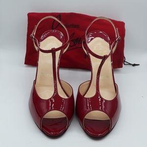 New without box Christian Louboutin patent sandal